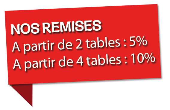 remise tables